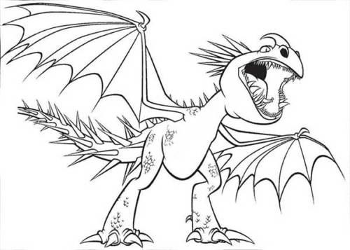 dragão para colorir