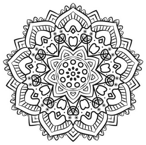 57 Desenhos de Mandala para Colorir e Relaxar (Anti Estresse)