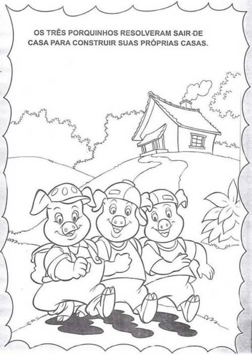 57 Desenhos Dos Tres Porquinhos Para Imprimir E Colorir Em Casa
