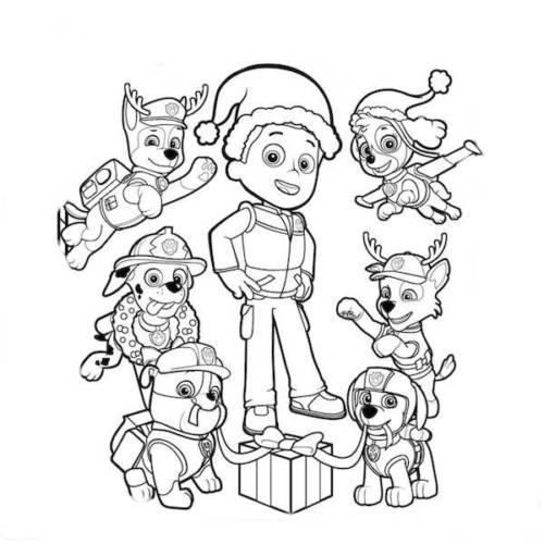 39 Desenhos Da Patrulha Canina Para Imprimir E Colorir Pintar
