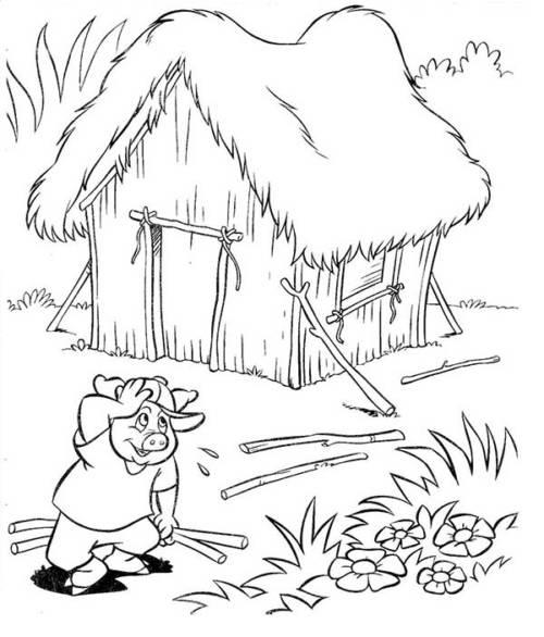 57 Desenhos Dos Três Porquinhos Para Imprimir E Colorir Em Casa