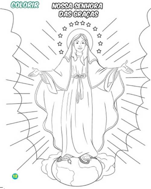 49 Desenhos De Nossa Senhora Para Criancas Pintar Em Casa
